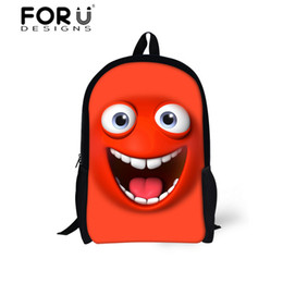 Wholesale backpack old school - Emoji Face Printing Backpack for Small Child Boys&Girls,Fashion Shoulder School Bags for 6-13 Year Old Student,Mochila Bags Cute