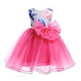 ee7ce6a700e Children Clothes Girl Print Sleeveless Organza Tutu Dress Wedding Formal Party  Dresses Children s Costume Teenager Prom Designs discount tutu beach wedding  ...