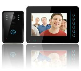 Wholesale Touch Video Intercom System - 7 Inch Wireless Video Door Phone Doorbell Intercom Touch Key IR Nigh Vision Waterproof Door Camera Home Video Intercom System LLFA