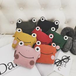 Kızlar Çanta 2018 Kore Moda Sevimli Renkli Kurbağa Omuz Çantaları Çocuklar Eşleşen Giyim Kız Prenses Çapraz vücut Çanta Sikke çanta nereden