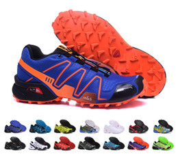 Wholesale Red Light Tanning - Hot Sell Cheap Outdoor Mens Mountain Hiking Shoes Zapatillas Speedcross Shoes Sport Anti-skid Cross-country Running Shoes EUR40-46
