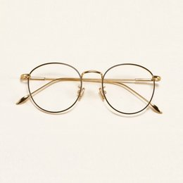 ad5c513ae0 47-17-134 The retro eyeglasses frame ultra light alloy thin metal circular  flat frame glasses myopia female tide 5211 male famle