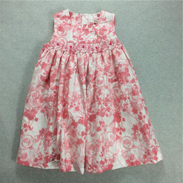 Wholesale Tutu Length Age - Big Girl Dresses Girls Princess Dresses Kids Flower Print For High Quality A Line Baby Girl Dress Age 3T-7T 2017 New Dress