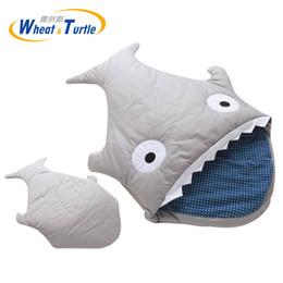Wholesale Kids Animal Sleeping Bags - Mother Kids Bedding Baby Sleeping Bags 0-24M Baby Sleeping Bag Soft Cotton Thick Blanket Winter Cartoon Shark Bags