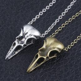 2019 pingentes de ouro fresco para homens Ouro / Prata esqueleto colar homens mulheres crianças presente pingente boca pássaro colar de moda crianças jóias cool NNA628 pingentes de ouro fresco para homens barato