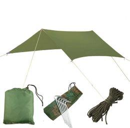 tenda da campeggio auto Sconti 3mx3m Ultralight Beach car Sun Shelter Tarp Impermeabile UV Tendalino Baldacchino Parasole può anche utilizzare come stuoia di campeggio con chiodo e corda