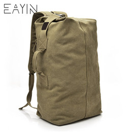 aa2326818f6b EAYIN Mountaineering Backpack Male Large Capacity Backpack Man Travel Bag  Luggage For Boys Canvas Bucket Shoulder Bags