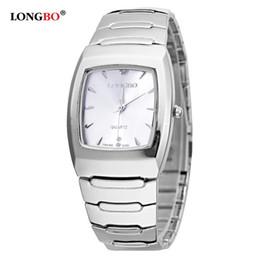 a430e3dda47 Mulheres Longbo Marca Homens Comple Breve Casual Quartz Cristal Relógios De  Pulso De Luxo Relógio de Aço Cheio Montre Femme mulher relógio longbo  promoção