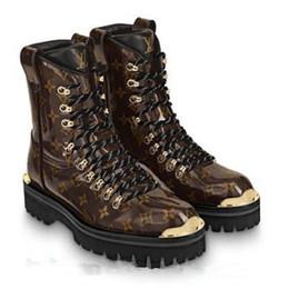 flat bottom work boots Promo Codes - Brand Leather Martin Boots Women  Vintage Retro Warmer Hiking 980c4312e1