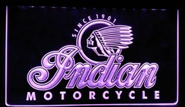 Wholesale Motorcycle Neon Signs - LS087-p Indian Motorcycle Services Logo Neon Light Sign Decor Free Shipping Dropshipping Wholesale 8 colors to choose