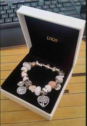 Wholesale silver pendant chains - Fashion Charm Bracelet 925 Silver Pandora Bracelets For Women Life Tree Pendant Bangle Charm Pandora Love Bead as Gift Diy Jewelry with logo