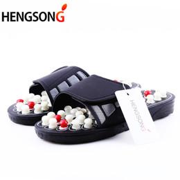 2019 masseur de chaussures Hot Acupoint Massage Pantoufles Sandale Pour Hommes Pieds Acupression Chinoise Thérapie Rotative Pied Massager Chaussures Unisexe masseur de chaussures pas cher