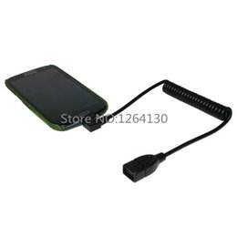 2019 pin pc connettore Cavo estensibile da 1,5 m Micro USB ad angolo retto da 5 pin Connettore OTG a prolunga femmina USB per Huawei Tablet PC Samsung pin pc connettore economici