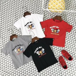 Wholesale free patterns dog clothes - Hot Sell - Wholesale Retails Children Clothing 2-6T Toddler Boy Summer Short Sleeved Cartoon Top Toddler Girls Dog Pattern Tee Free Shipping