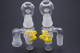 dab rig clou dôme 14mm Promotion 90Degree 14mm 18mm mâle femelle Reclaimer Adaptateur en verre avec verre Dôme Nail et Jar Keck Clip pour Bongs en verre Oil Rigs et Dab