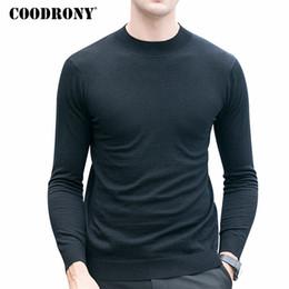 COODRONY Merino Wolle Pullover Männer Winter Warm Gestrickte Kaschmir  Pullover Marke Casual Rollkragenpullover Männer Plus Größe Pull Homme  rabatt ... 0769f4e856