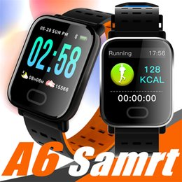 smart monitors Coupons - A6 Wristband Smart Watch Touch Screen Smartwatch Phone with Heart Rate Monitor Outdoor Sport Running Calories pk fitbit xiaomi band