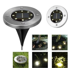 Wholesale home leds - new Buried Light Solar Powered Ground Light Waterproof Garden Pathway Deck Lights With 8 LEDs Solar Lamp for Home Yard Driveway Lawn Road