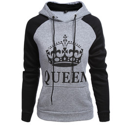 57c3da87e6 kings jackets 2019 - Wholesale men and women letters KING QUEEN couple  fashion sweater jacket hoodie