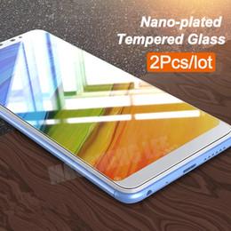 "Lentes templados azul online-2Pcs / lot Vidrio templado para Xiaomi Redmi Note 5 Pantalla global Protector de pantalla 5.99 ""Anti Blu-ray glass Para redmi note 5 pro"