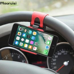 Evrensel Araç Telefonu Tutucu Direksiyon Bisiklet Klip Dağı Samsung iPhone Için Cep Telefonu Standı Soket Redmi Xiaomi Not cheap iphone steering wheel mount nereden iphone direksiyon simidi tedarikçiler