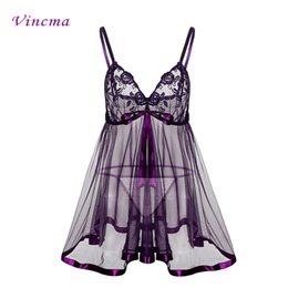 fcc45a0dc5133 XXL 3XL 4XL 5XL 6XL Plus Size Women Embroidery Bra Big Bow Erotic Underwear  Hot Sexy Lingerie Babydolls Transparent Purple Dress