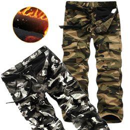 2019 produits militaires Pantalon Cargo Hommes Coton Haute Qualité Hiver Nouveaux Produits avec Cachemire Salopettes Homme Pantalon Camouflage Pantalon Militaire produits militaires pas cher