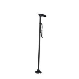Wholesale carbon hiking stick - 2017 New Hot Sale Tusty Cane Sturdy Folding Cane with Built-In Lights Adjustable Handle T-type Crutch Ultra-light Walking Sticks