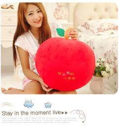 2019 materiais montessori atacado Novo criativo adorável maçã brinquedo de pelúcia grande maçã vermelha presente da boneca sobre 50 cm 0274