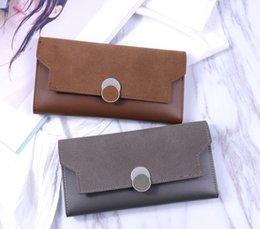 2018 neue weiche Geldbörse Damen lange Stil Vintage Handtasche koreanische Version der gefrosteten dünnen Brieftasche von Fabrikanten