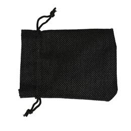2019 sacchetto di juta nero NERO 7x9 cm 9x12 cm Mini sacchetto di iuta sacchetto di lino di canapa gioielli regalo borsa con coulisse borse per bomboniere, perline sconti sacchetto di juta nero