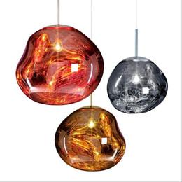 Wholesale Modern Lamp Posts - Post-modern Tom DIXON Melt Pendant Lights Glass Lava Irregular Hang Lamp for Living Room Bedroom Lamp Restaurant Home Lighting