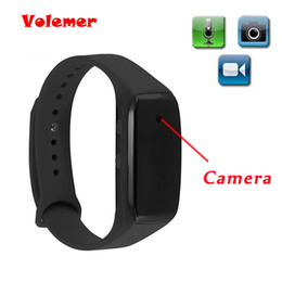 Wholesale Dv Camera Watch - Volemer Easy Carry Bracelet Camera HD 1080P Life Video Recorder Wristband Mini Camcorders Support Micro SD Max 32GB Watch Camera