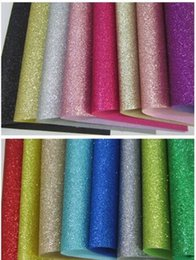 roll glitter paper Coupons - Wholesale- 1lot 17pcs A4 size 30cm*21cm T001 colour sample fine glitter fabric material for christmas,diy bow