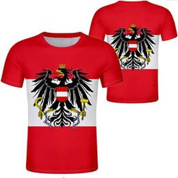 2019 pays des drapeaux rouges AUTRICHE t-shirt gratuit fait sur commande nom numéro noir blanc gris rouge vêtements tees aut pays t-shirt nation allemande au sommet des drapeaux pays des drapeaux rouges pas cher