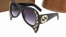 Grandes gafas vintage online-Nuevas gafas de sol de gran tamaño Mujeres Vintage Diseñador de la marca Gafas de sol para mujeres grandes sombras Oculos Mujer 2018 Ret 7 COLOR