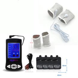 детские игрушки для мальчиков Скидка Электрическая стимуляция мужской игрушки, 5 см электрическим током мешок, массаж pad, анальный штекер, пенис кольцо, медицинская тема игрушка