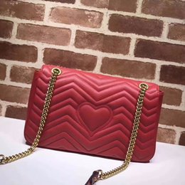 Wholesale velvet bags multi color - Big brand famous design bag Totes New velvet handbags real shot chain handbag wave pattern leather Shoulder bag Messenger bags