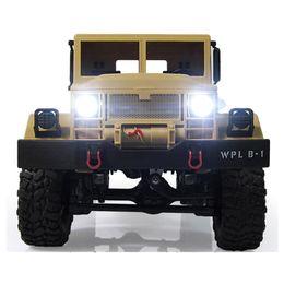 Suspension de voiture rc en Ligne-Nouveau design Wpl B -1 1: 16 camion militaire Rc Mini Off-Router voiture poutre de suspension en métal RTR / cadeau de chenille 4kd Led lumineux pour garçon enfants