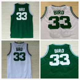 Wholesale basketball times - 33 Larry Bird Mens1992 USA Dream Team Jerseys Old Time Style Green White Indiana State Sycamores College Basketball Jerseys All Stiched