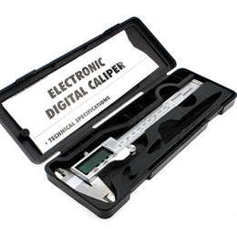 Wholesale Digital Electronic Caliper - High Quality 150mm 6-inch hardened Stainless Steel Electronic Digital Vernier Caliper Micrometer With Box