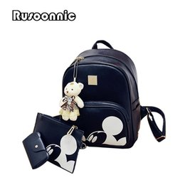 0dbec837446 bags mickey Promo Codes - Mickey Backpack Women Composite Backpack High  Quality Pu Bagpack leather Bag