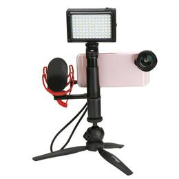 Trípodes de aluminio online-Ulanzi PT-1 Micrófono Placa de zapata fría Adaptador de barra de extensión universal de aluminio Adaptador para trípode Micrófonos de luz de video de video