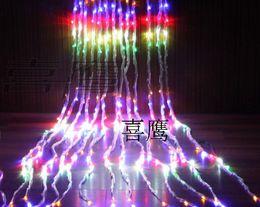 2019 glitterband großhandel rot 336LED vorhang licht 3 Mt * 3 Mt Wasserfall weihnachtsbeleuchtung luces decorativas girlande luminaria dekoration Vorhänge lampen Wasserdicht