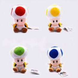 Super mario cogumelo figura on-line-18 CM Super Mario Bros Sapo De Pelúcia Bonecos De Pelúcia De Pelúcia Brinquedos Figuras de brinquedo Cogumelo pingente de pelúcia chaveiro