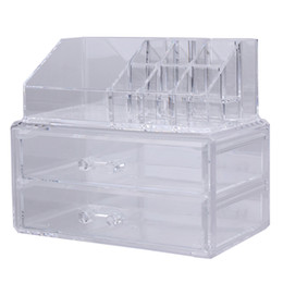 Regal lippenstift online-Acryl Kosmetik Make-up Speicherorganisator Schublade Make-up Fall Speichereinsatz Lippenstift, Gloss Holder Box Shelf Organizer