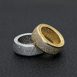Zircon micro bague incrustée anneau de diamant pour hommes dominateur Hip Hop Top Qualité Fashaion Hip Hop Accessoires En gros Taille US ? partir de fabricateur