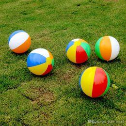 Pelota de playa 6 Color Rayas Rainbow Beach Ball Outdoor Beach Ball Deportes acuáticos Globo Mejor regalo para niños 23cm desde fabricantes