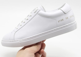 Wholesale project blue - Common Projects by Women Italy Brand Black White Low Top Shoes Men Women Genuine Leather Casual Shoes Flats Chaussure Femme Homme