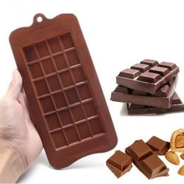 Outils de cuisson de biscuits en Ligne-24 treillis 3D Outils en silicone Cube de glace Moule Chocolat Sucré Biscuit Cuisson Fondant Moule Gâteau Décoration B